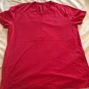 Men's size 5 Pink Lacoste T-shirt